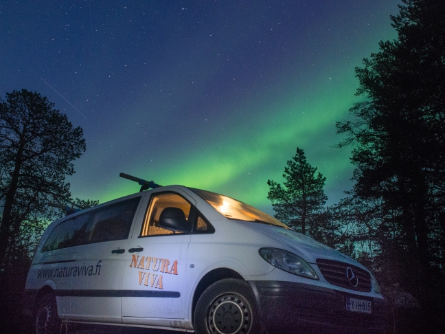 Natura Viva van and the Northern Lights