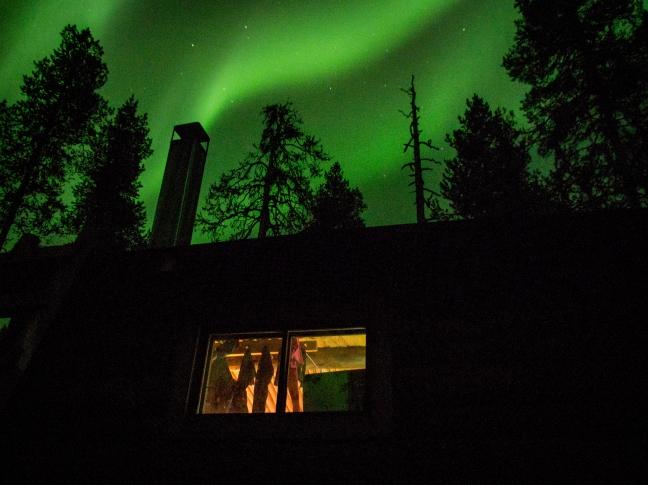 Northern Lights at Saiho open hut