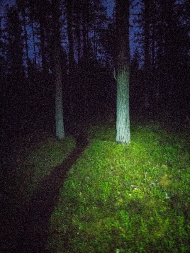 Hiking in the dark