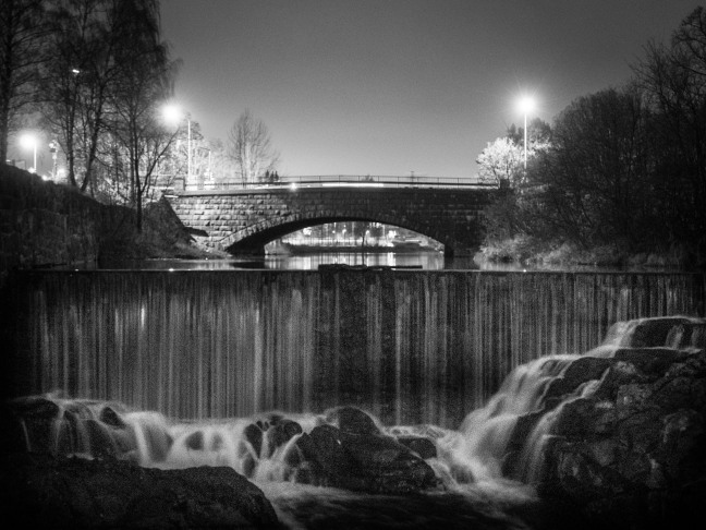 Old town waterfall in Helsinki