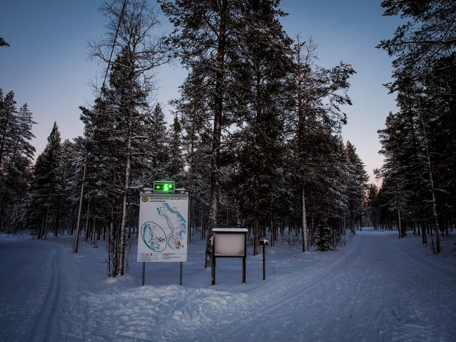 The start of the ski track in Sodankylä