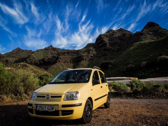 My trusted Fiat Panda in Gran Canaria