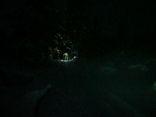Skiing in the dark in Urho Kekkonen National Park