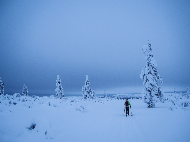 Skiing in Saariselkä