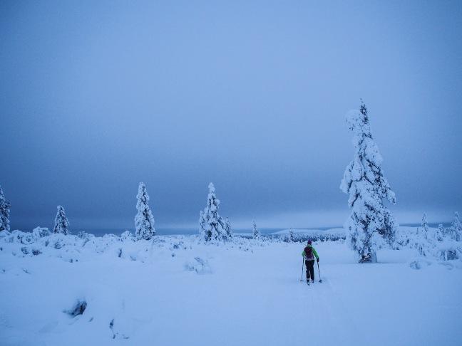 Skiing in Saariselkä