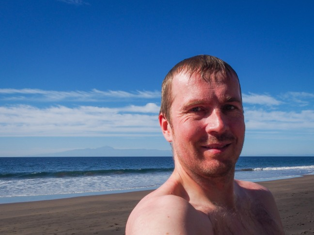 After a swim in Guigui beach
