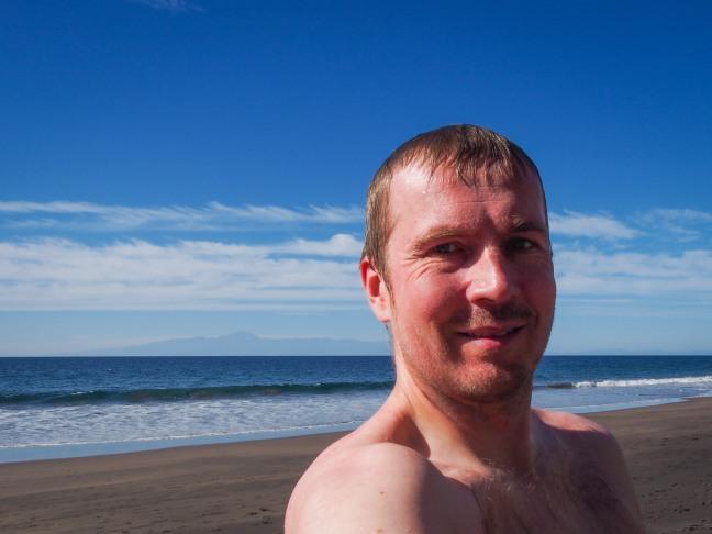 After a swim in Guigui beach