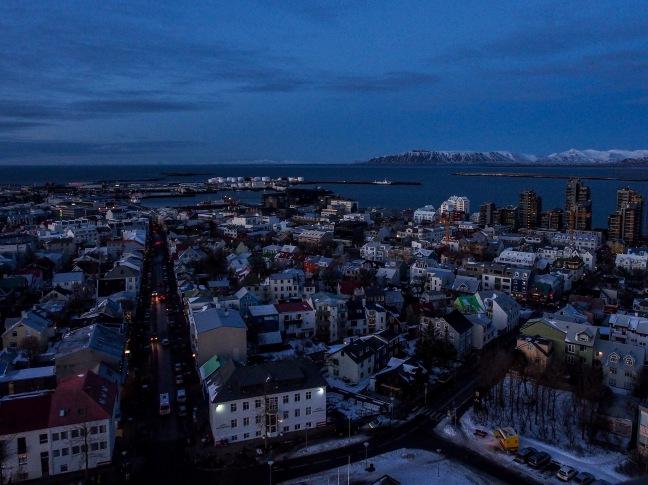 View of Reykjavik from Halgrimskirkja