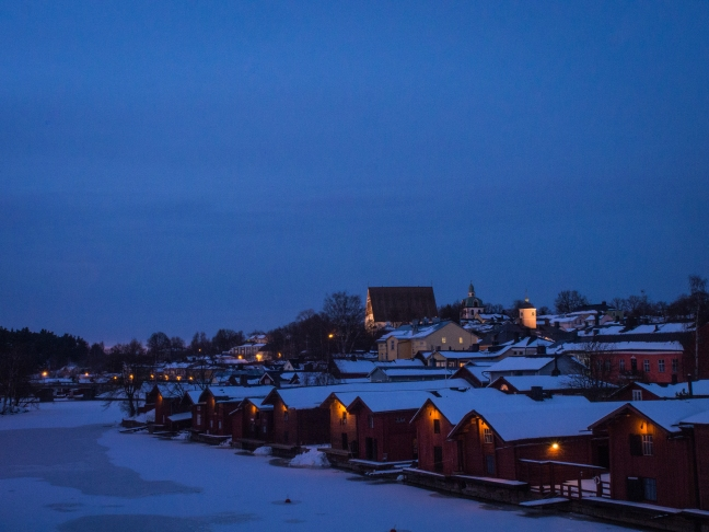 Winter evening in Porvoo