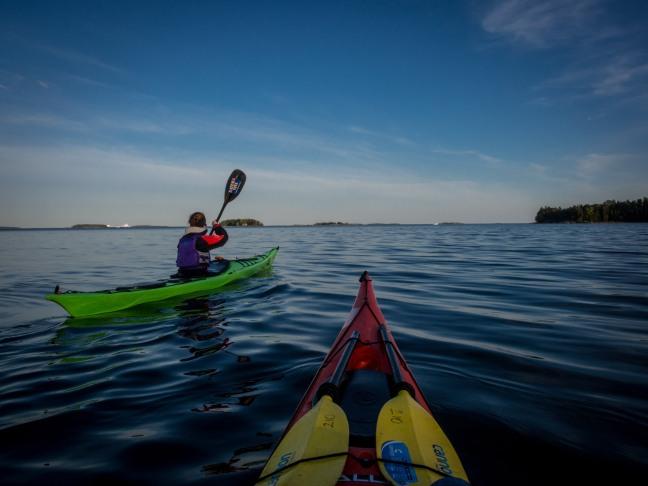Kayaking in Vuosaari, Helsinki