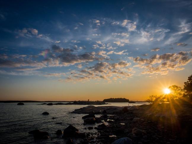 Sunset at Pihlajaluoto, Helsinki