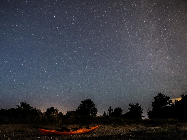 Watching the Perseid meteor shower