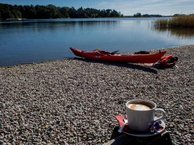 Coffee before kayaking
