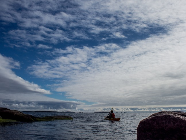 Kayaking in Finland