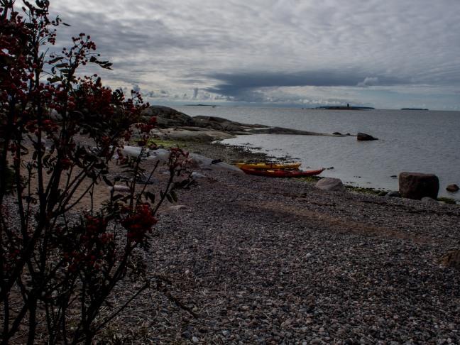 Kayaks in Hattusaari, Eastern Helsinki