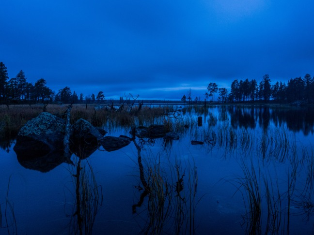 Blue moment at Lake Inari