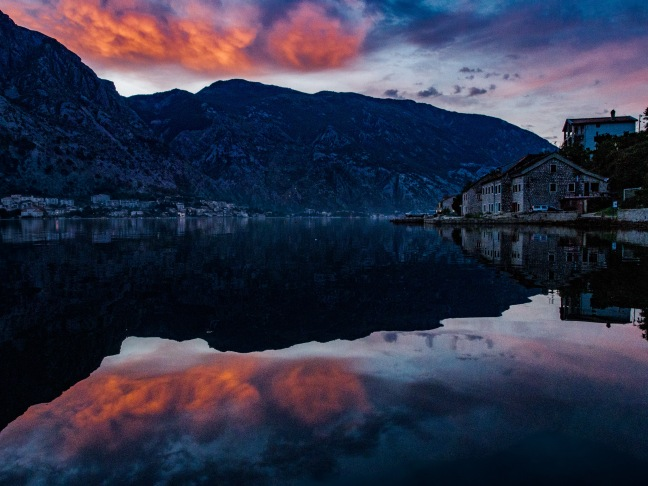 Sunrise in Kotor, Montenegro