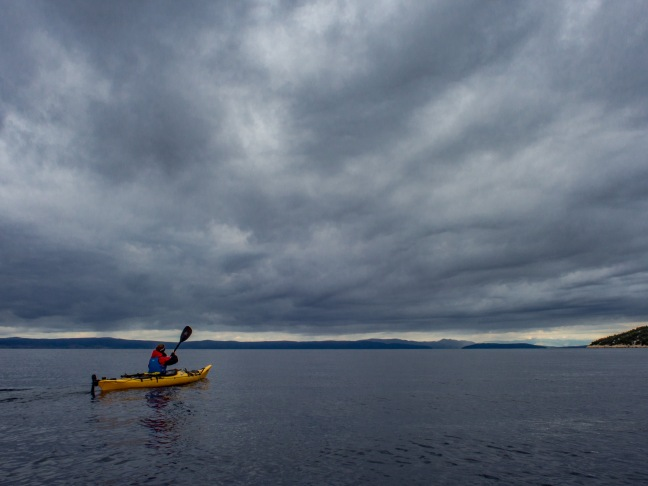 Cloudy skyes on a kayak trip