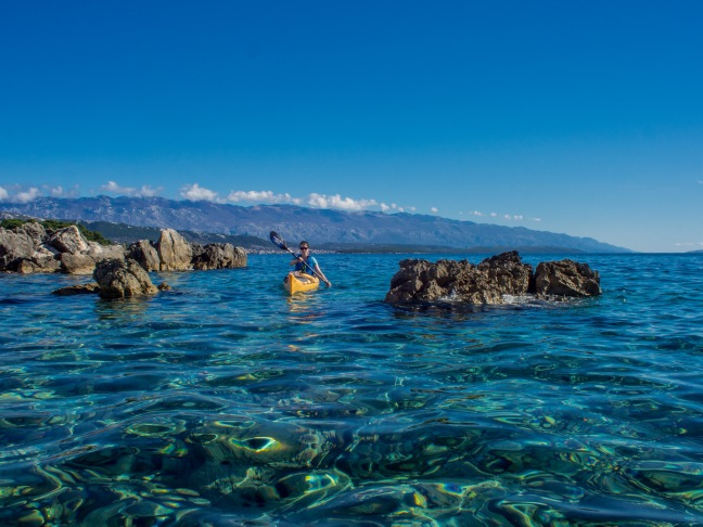 Kayaking on the Adriatic Sea