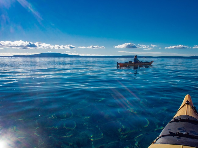 Kayaking around Rab Island